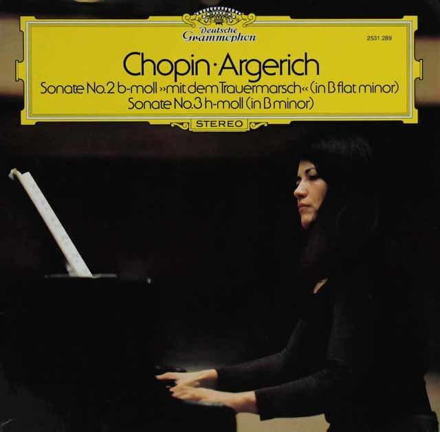 アルゲリッチのショパン/ピアノ・ソナタ第2番「葬送」 & 第3番  独DGG 3122 LP レコード