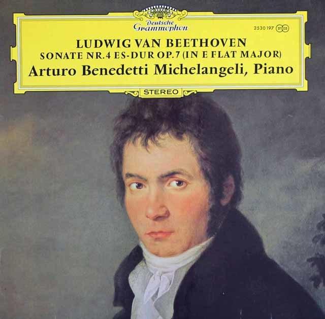 ミケランジェリのベートーヴェン/ピアノソナタ第4番 独DGG 3122 LP レコード