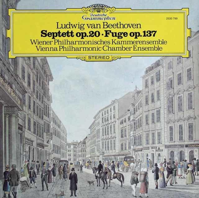 ウィーン・フィル室内合奏団のベートーヴェン/七重奏曲ほか 独DGG 3122 LP レコード