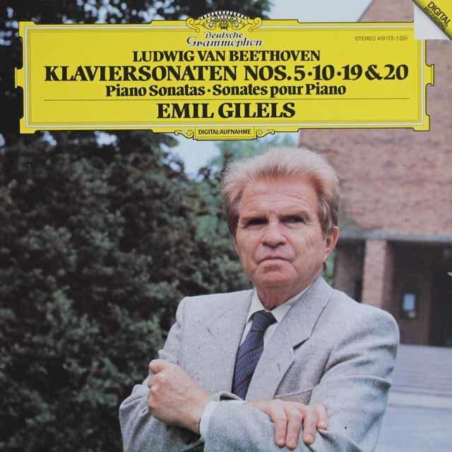 ギレリスのベートーヴェン/ピアノソナタ第5、10、19、20番 独DGG 3122 LP レコード