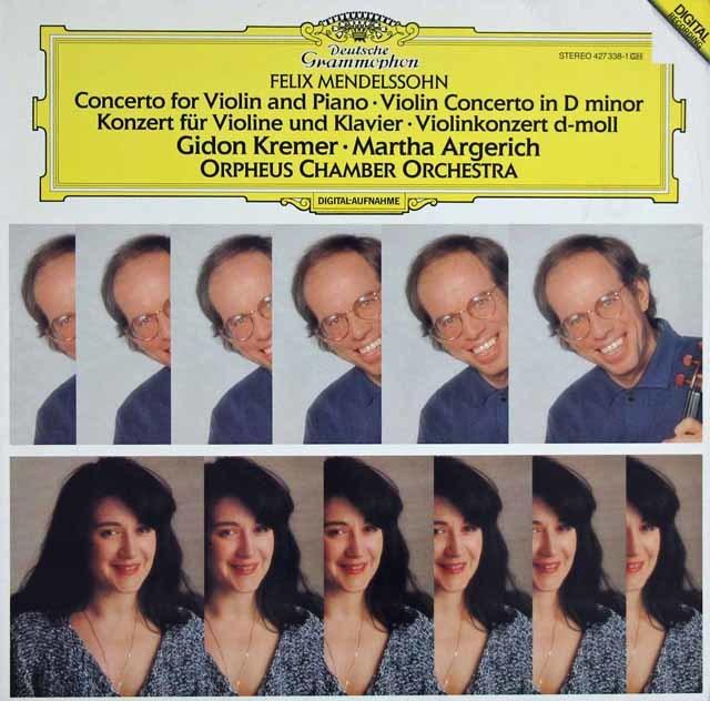 クレーメル&アルゲリッチのメンデルスゾーン/ヴァイオリンとピアノのための二重協奏曲ほか 独DGG 3122 LP レコード