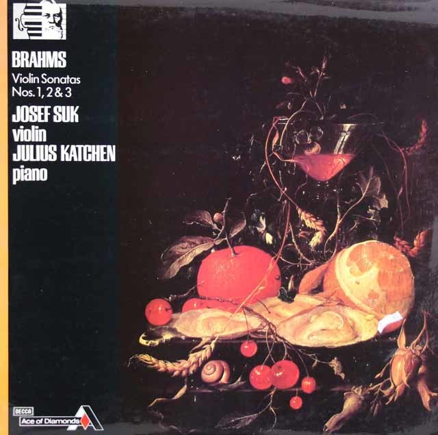 スーク&カッチェンのブラームス/ヴァイオリンソナタ第1番~第3番 英DECCA 3122 LP レコード
