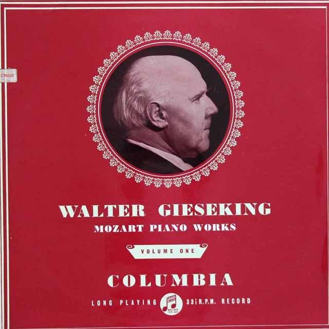 【オリジナル盤】 ギーゼキングのモーツァルト/ピアノソナタ第16番ほか 英Columbia 3122 LP レコード