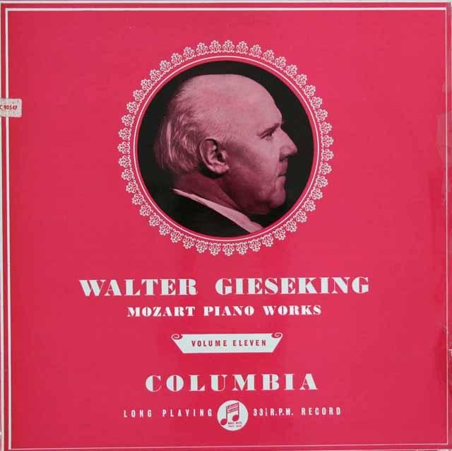 【オリジナル盤】 ギーゼキングのモーツァルト/8つのメヌエットとトリオ K.315aほか 英Columbia 3122 LP レコード