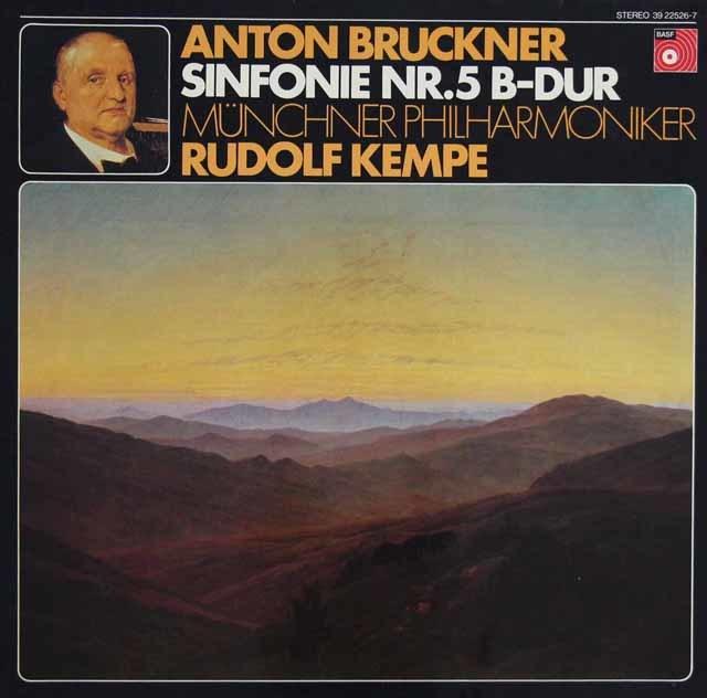 【オリジナル盤】ケンペのブルックナー/交響曲第5番   独BASF 3122 LP レコード