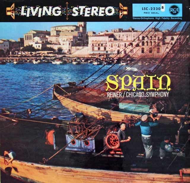 【独最初期盤】 ライナーのスペイン管弦楽曲集 独RCA 3122 LP レコード