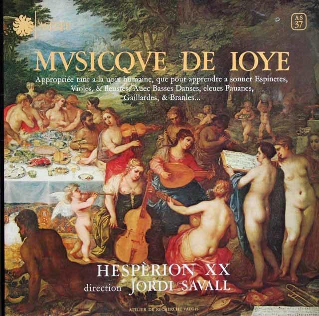 サヴァールらエスペリオンXXの「よろこびの音楽」 仏ASTREE 3122 LP レコード