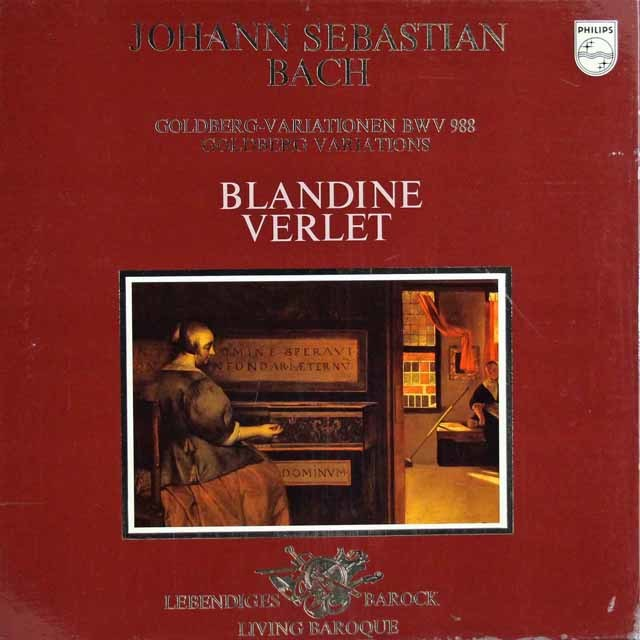 ヴェルレのバッハ/ゴルトベルク変奏曲 蘭PHILIPS 3122 LP レコード