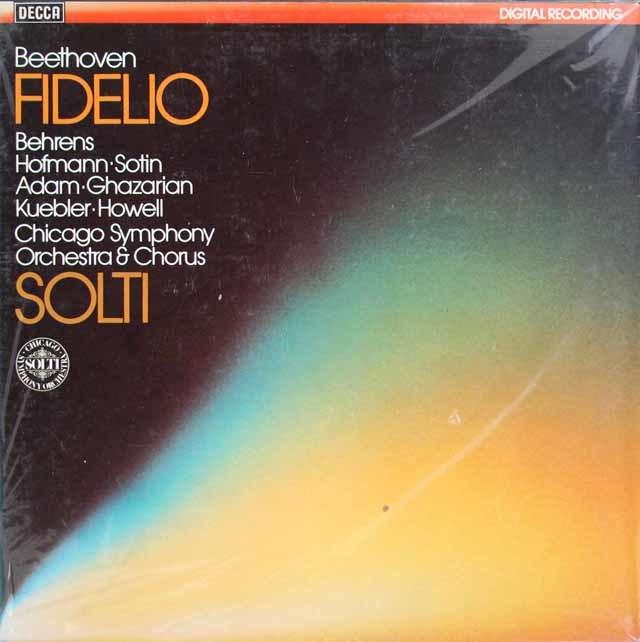 【未開封】 ショルティのベートーヴェン/歌劇「フィデリオ」全曲 独DECCA 3122 LP レコード