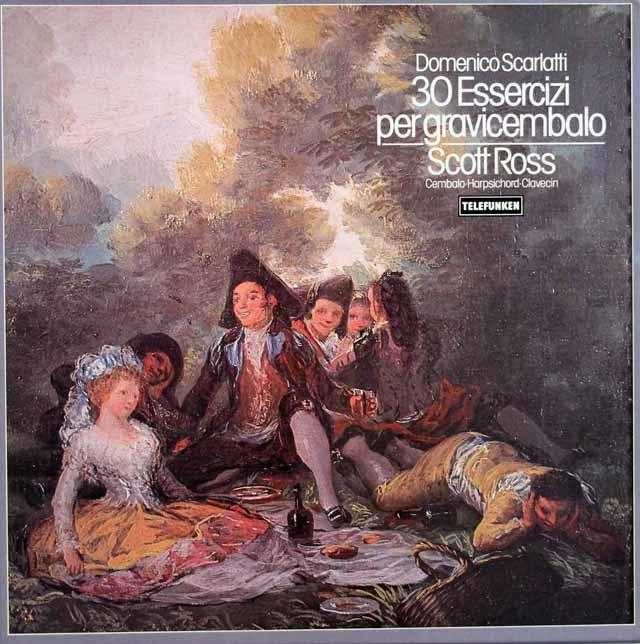 スコット・ロスのスカルラッティ/チェンバロのための30の練習曲集 独TELEFUNKEN 3122 LP レコード