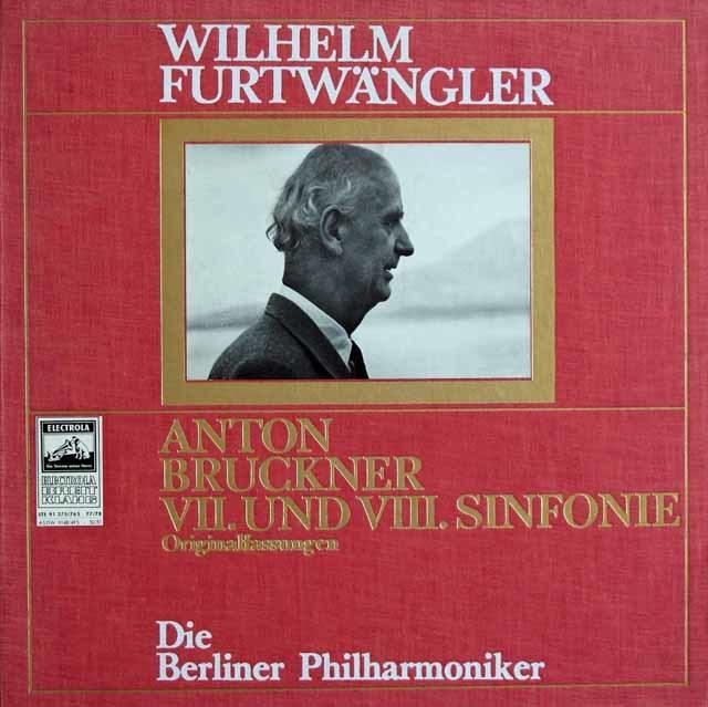 フルトヴェングラーのブルックナー/交響曲第7番 & 8番 独EMI 3122 LP レコード