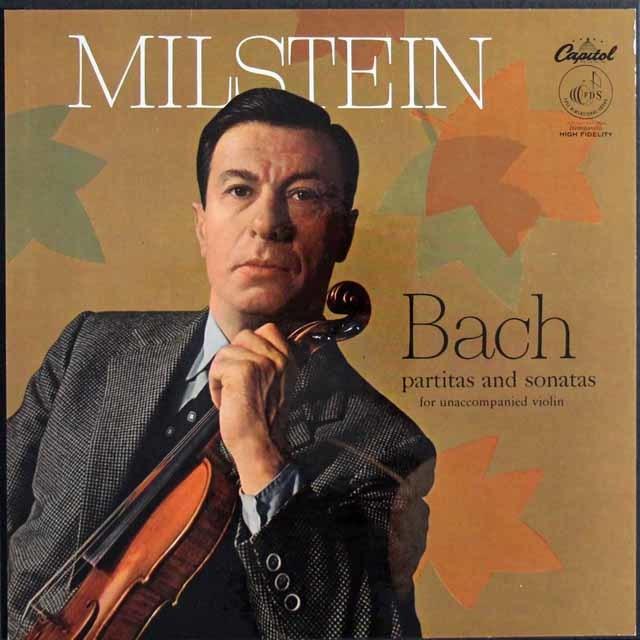 【オリジナル盤】 ミルシュタインのバッハ/無伴奏ヴァイオリンソナタとパルティータ(全曲) 米Capitol 3122 LP レコード