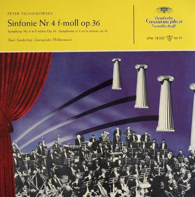 ザンデルリンクのチャイコフスキー/交響曲第4番 独DGG 3123 LP レコード