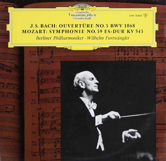 フルトヴェングラーのモーツァルト/交響曲第39番ほか 独DGG 3123 LP レコード