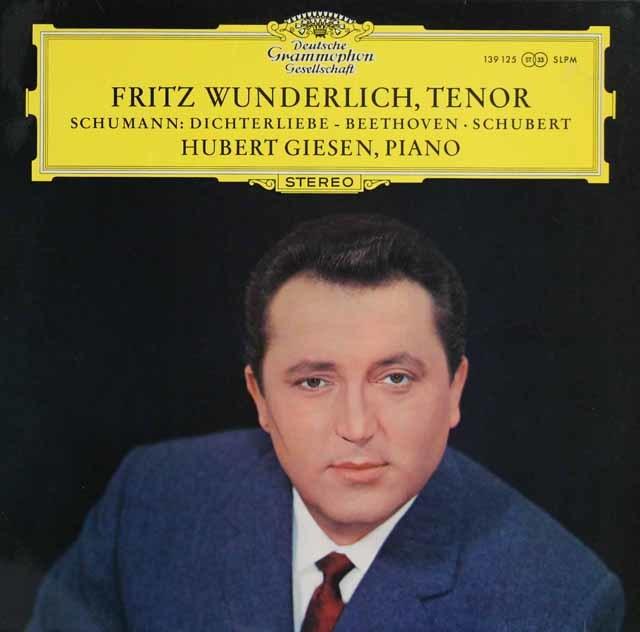 【オリジナル盤】 ヴンダーリヒのシューマン/「詩人の恋」ほか 独DGG 3123 LP レコード