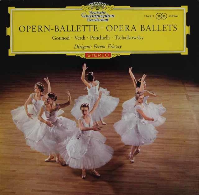 【赤ステレオ・オリジナル盤】 フリッチャイのオペラのバレエ音楽集 独DGG 3123 LP レコード