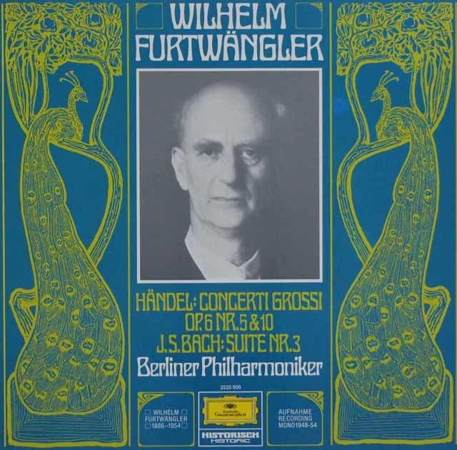 フルトヴェングラーのバッハ/管弦楽組曲第3番ほか 独DGG 3123 LP レコード