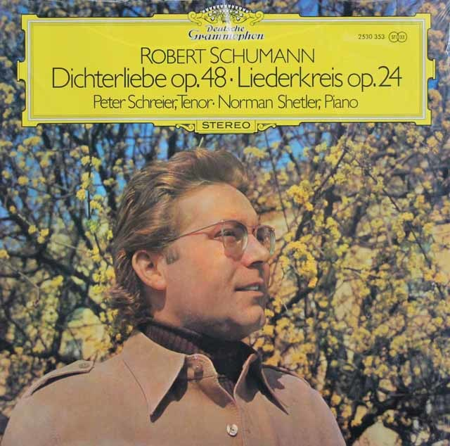【未開封】 シュライアーのシューマン/「詩人の恋」&「リーダークライス」 独DGG 3123 LP レコード