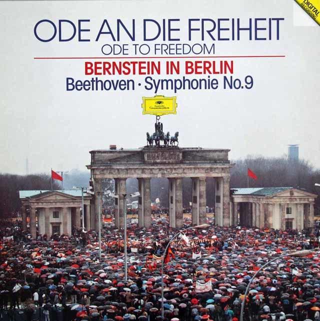 バーンスタインのベートーヴェン/交響曲第9番「合唱付き」[ベルリンの壁解放記念コンサート] 独DGG 3123 LP レコード