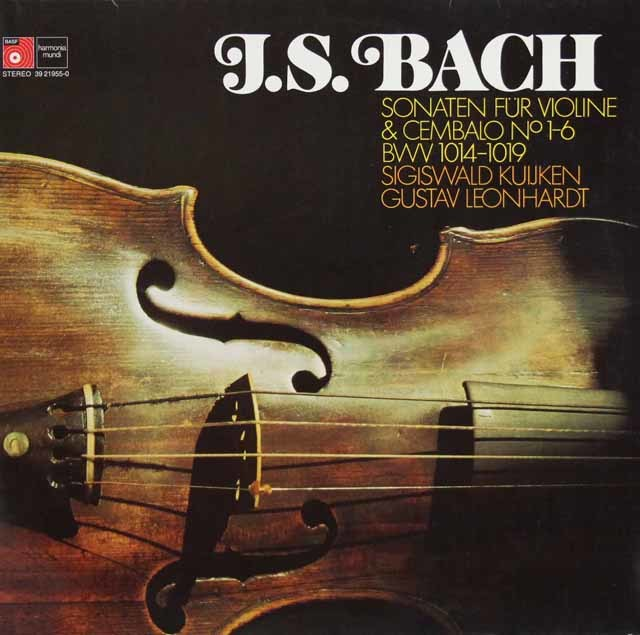 クイケン&レオンハルトのバッハ/ヴァイオリンとチェンバロのためのソナタ集 独BASF 3123 LP レコード