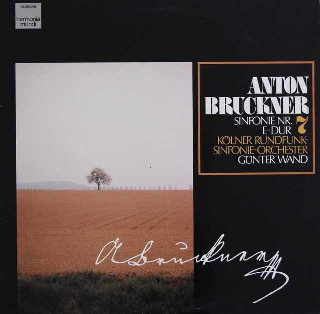 ヴァントのブルックナー/交響曲第7番 独HM 3123 LP レコード