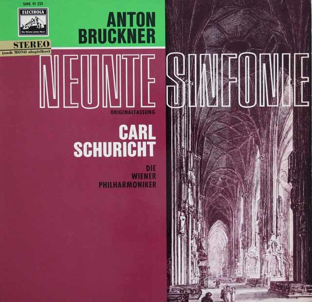シューリヒトのブルックナー/交響曲第9番 独EMI 3123 LP レコード