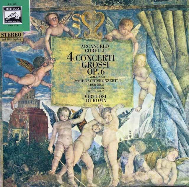 ヴィルトゥオージ・ディ・ローマのコレッリ/合奏協奏曲第8番「クリスマス協奏曲」ほか 独EMI 3123 LP レコード