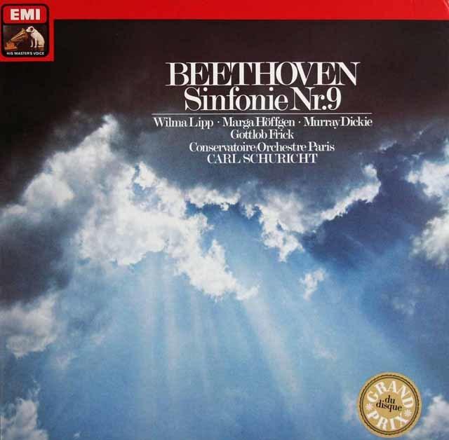 シューリヒトのベートーヴェン/交響曲第9番「合唱付き」 独EMI 3123 LP レコード