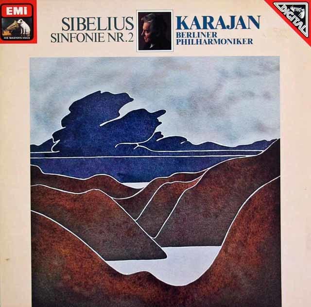 カラヤンのシベリウス/交響曲第2番 独EMI 3123 LP レコード