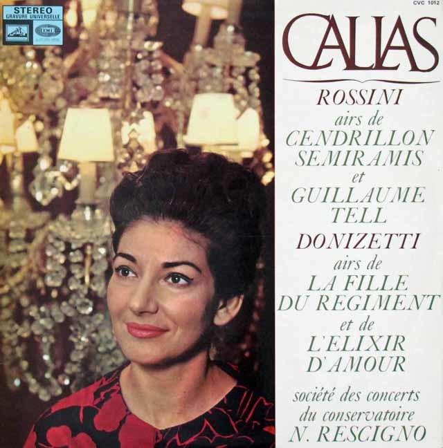 カラスのロッシーニ&ドニゼッティ/アリア集 仏EMI(VSM) 3123 LP レコード