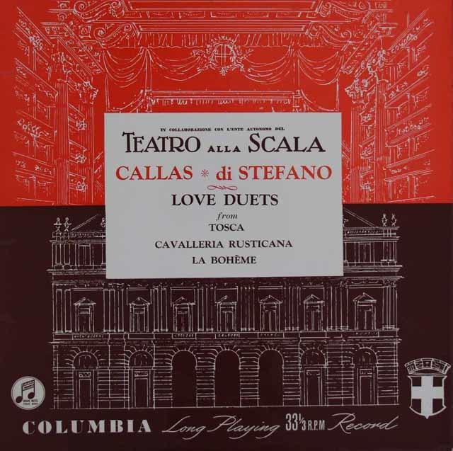 カラス&ディ・ステファーノのオペラアリア集 英Columbia 3123 LP レコード