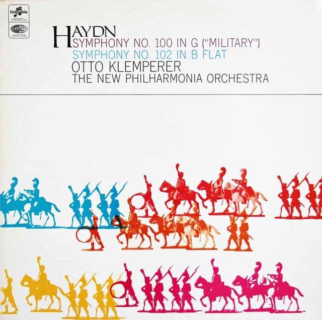 クレンペラーのハイドン/交響曲第100番「軍隊」&第102番 英Columbia 3123 LP レコード
