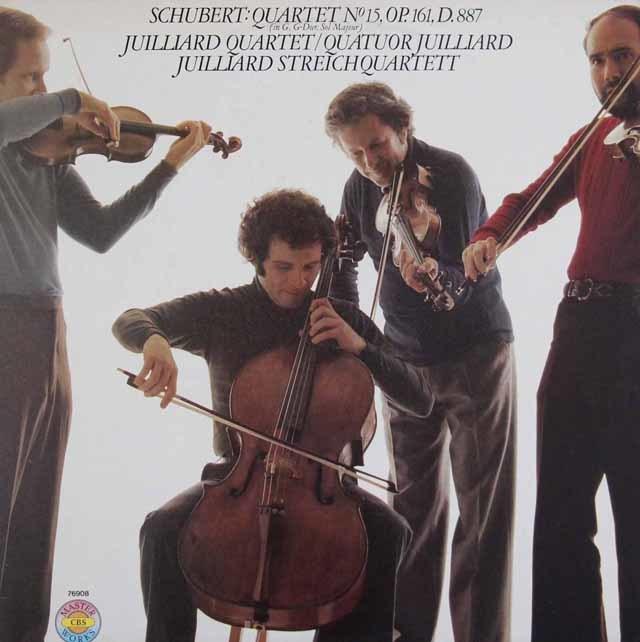 ジュリアード四重奏団のシューベルト/弦楽四重奏曲第15番 独CBS 3123 LP レコード