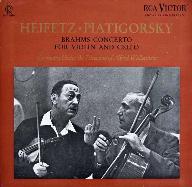 ハイフェッツ&ピアティゴスルキーのブラームス/二重協奏曲 独RCA 3123 LP レコード