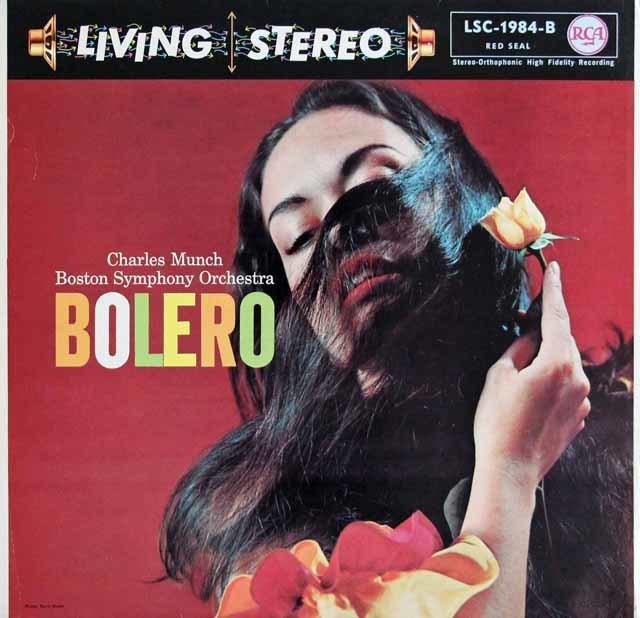 ミュンシュのラヴェル/ボレロほか 独RCA 3123 LP レコード