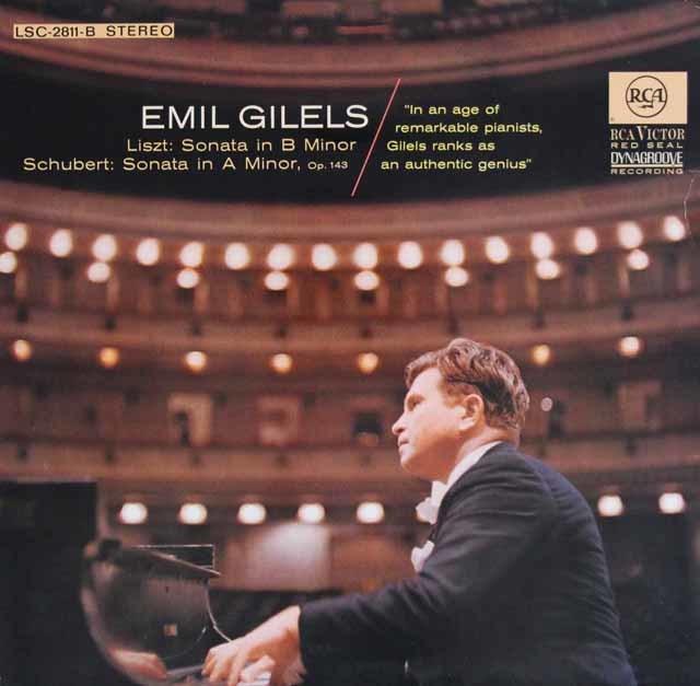 ギレリスのリスト&シューベルト/ピアノソナタ集 独RCA 3123 LP レコード