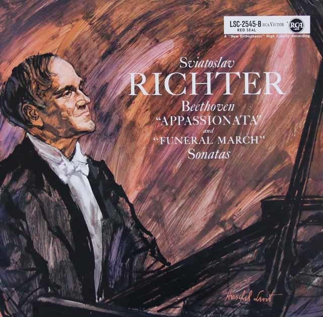 【独最初期盤】リヒテルのベートーヴェン/ピアノソナタ「熱情」&「葬送」 独RCA 3123 LP レコード