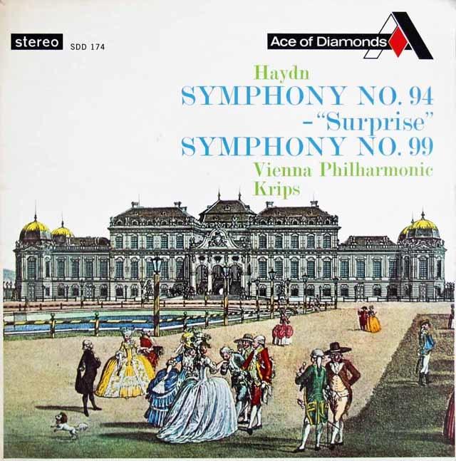 クリップスのハイドン/交響曲第94番「驚愕」&第99番 英Ace of Diamonds(DECCA) 3123 LP レコード