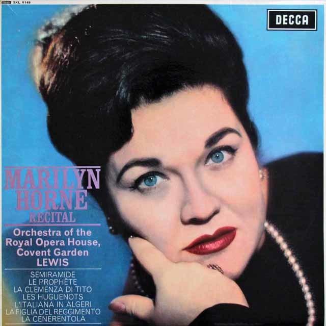 【オリジナル盤】 マリリン・ホーン/リサイタル 英DECCA 3123 LP レコード