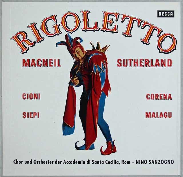 サザーランド・サンツォーニョらののヴェルディ/「リゴレット」全曲 独DECCA 3123 LP レコード