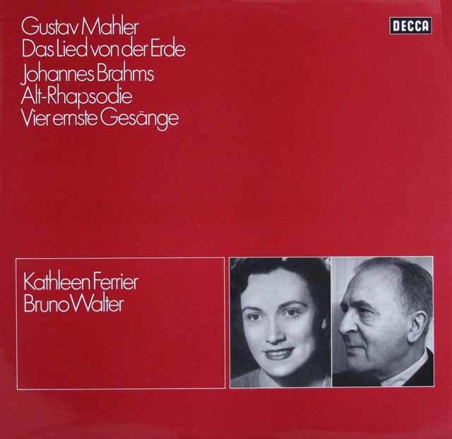 ワルター&フェリアのマーラー/「大地の歌」ほか 独DECCA 3123 LP レコード