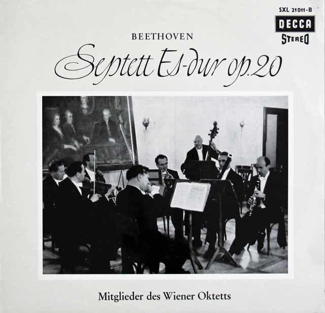 ウィーン・オクテットのベートーヴェン/七重奏曲 独DECCA 3123 LP レコード