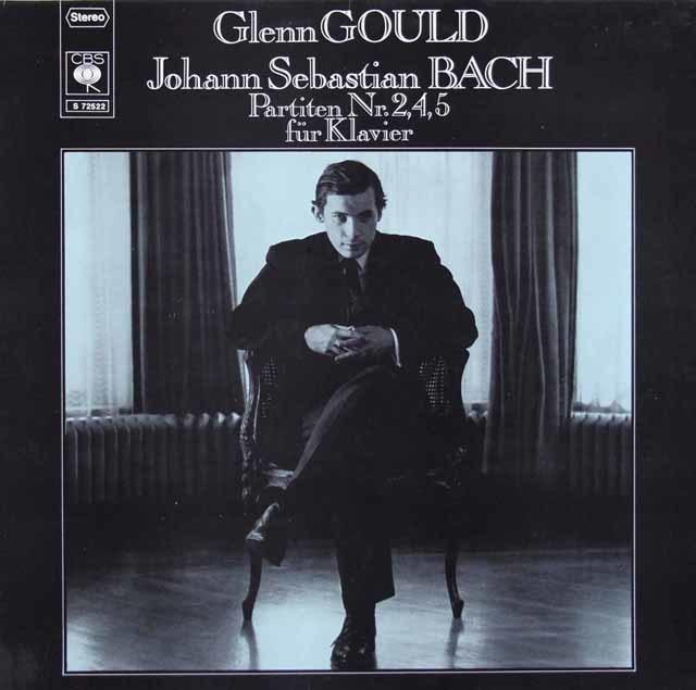 グールドのバッハ/パルティータ第2、4、5番 独CBS 3123 LP レコード