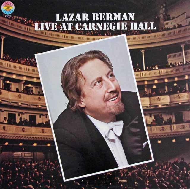 ベルマンのカーネギーホール・ライヴ1979 独CBS 3123 LP レコード
