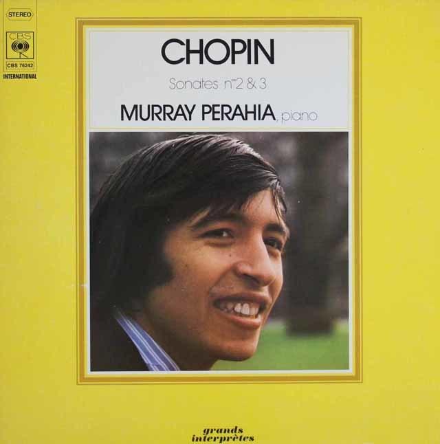 ペライアのショパン/ピアノソナタ第2&3番 独CBS 3123 LP レコード