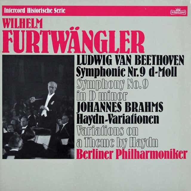 フルトヴェングラーのベートーヴェン/交響曲第9番「合唱」ほか 独Intercord 3123 LP レコード