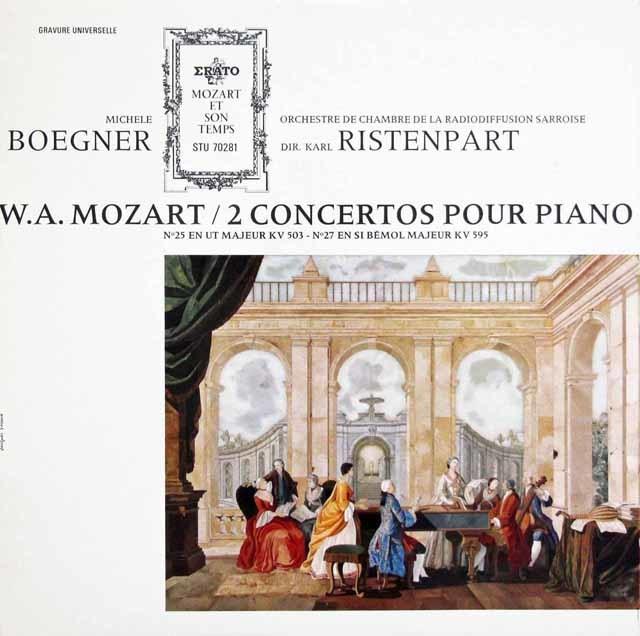 ベグネール&リステンパルトのモーツァルト/ピアノ協奏曲第25&27番 仏ERATO 3123 LP レコード