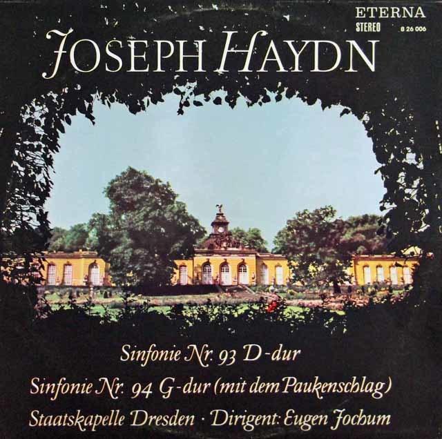 ヨッフムのハイドン/交響曲第93&94番「驚愕」  独ETERNA 3123 LP レコード