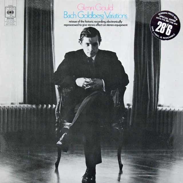 グールドのバッハ/ゴルトベルク変奏曲 英CBS 3124 LP レコード