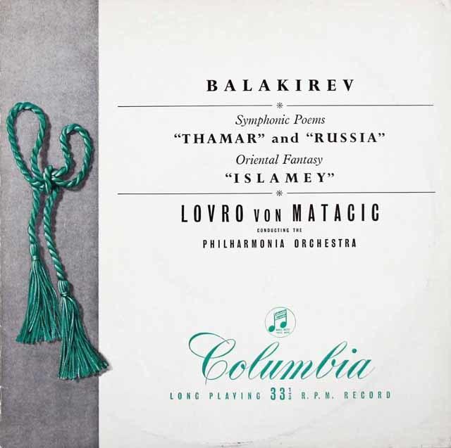 【オリジナル盤】マタチッチのバラキレフ/交響詩「タマーラ」&「ルーシ」ほか 英Colombia 3124 LP レコード
